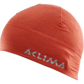 Aclima LightWool Muts met klep, rood